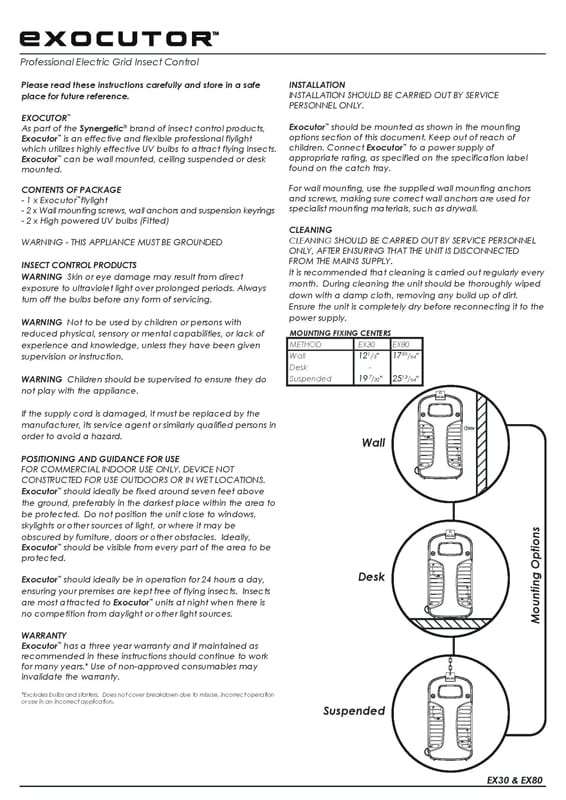 Exocutor Installation Instructions