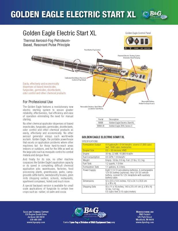 Golden Eagle Sales Sheet