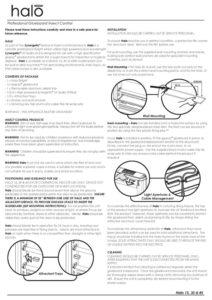 Halo Installation Instructions