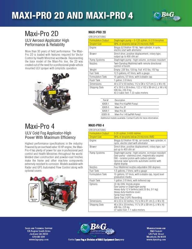 Maxi-Pro 4D Sales Sheet