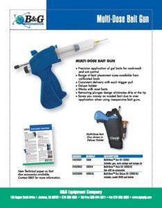 Multi-Dose Bait Gun Sales Sheet