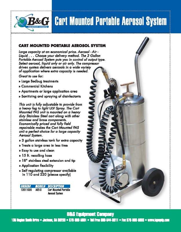 PAS Cart Mounted Sales Sheet