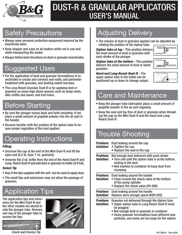 Bulb Duster User Manual
