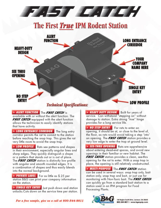 Fast Catch Rodent Station Sales Sheet