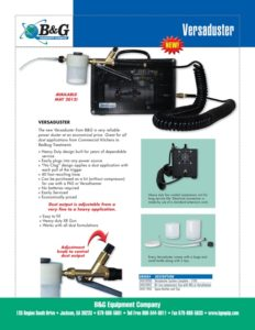 Versaduster Sales Sheet