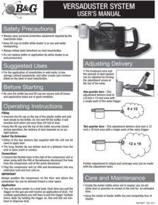 Versaduster User Manual