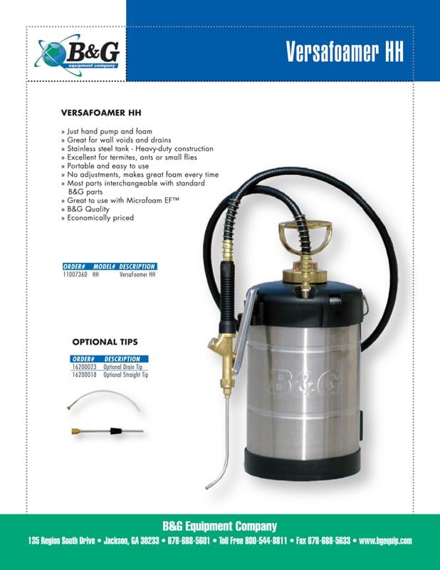Versafoamer HH Sales Sheet