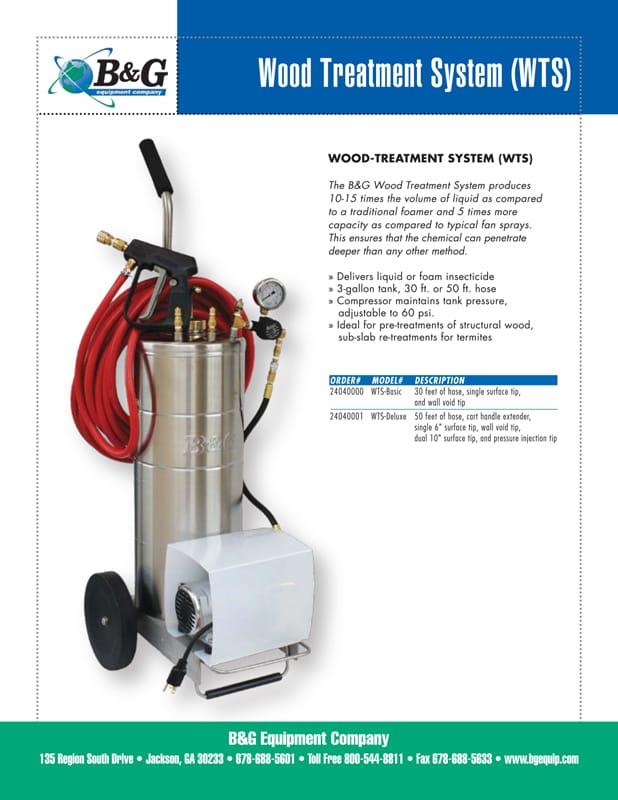 Wood Treatment System Sales Sheet