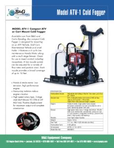 ATV-1 ULV Fogger Sales Sheet
