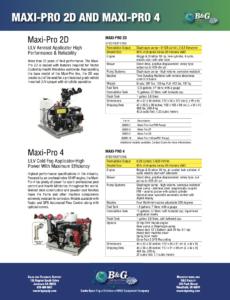 Maxi-Pro 2 and Maxi-Pro 4 Sales Sheet