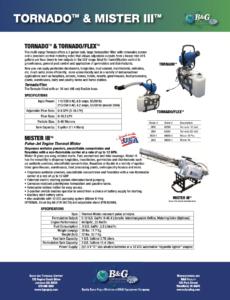 Tornado and Mister III Sales Sheet