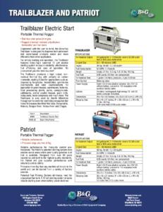 Trailblazer Sales Sheet